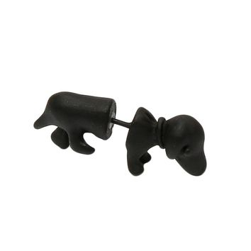 Hot Fashion Punk Style So Cool Cute Mens Womens 3D Puppy Dog Animal Cuff Ear Stud Piercing Earring EAR-0732