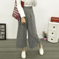 Wide Legged Linen Trousers