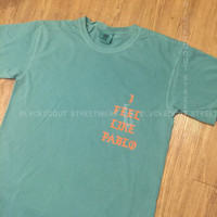 Yeezus Tour Seafoam I Feel Like Pablo LA Pop Up Shop Short Sleeve / Kanye West / Yeezy / I Feel Like Pablo / The Life of Pablo /