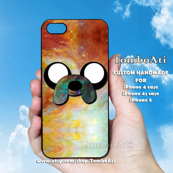 Adventure Time Finn Quote Galaxy Nebula - Print on Hard Cover For iPhone 4/4S and iPhone 5 Case