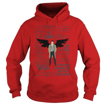 Castiel Supernatural Ill Interrogate The Cat Hey Assbutt Shirt Hoodie