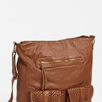 T-shirt & Jeans Faux Leather Satchel (Juniors) | Nordstrom