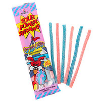 Sour Power Straws Cotton Candy Packs: 24-Piece Box
