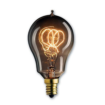 25 Watt Nostalgic Incandescent Edison A15 Vintage Loop Filament Candelabra Base Antique/Set of 4