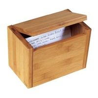 Lipper International Bamboo Recipe Box