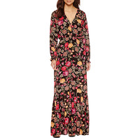 Weslee Rose Long Sleeve Maxi Dress - JCPenney
