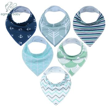 New Style Baby Bandana Drool Bibs Unisex 6 Pack Cotton Super Absorbent for Drooling and Teething Perfect Baby Shower Gift Set