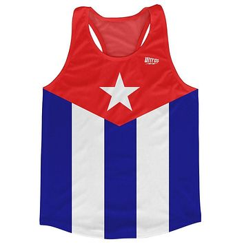 Cuba Country Flag Running Tank Top Racerback Track and Cross Country Singlet Jersey