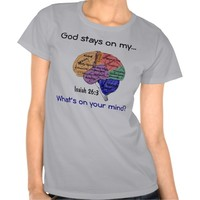 God on my mind Agrainofmustardseed.com Brain T-shirt