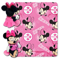 Pittsburgh Steelers NFL Minnie Mouse with Throw Combo