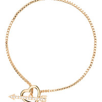 Kate Spade Love List Heart And Arrow Toggle Bracelet Clear ONE