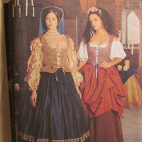 Sale Uncut Simplicity Sewing Pattern, 8715! Small/Medium/Large/XL/XXL/Plus/Women's/Misses/Renaissance Dresses/Wench/Maiden/Historical Costum