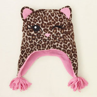baby girl - accessories - leopard glacier fleece hat | Children's Clothing | Kids Clothes | The Children's Place