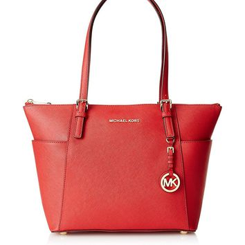 NEW AUTHENTIC MICHAEL KORS JET SET EW TZ TOTE HANBAG