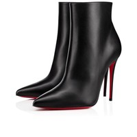 Christian Louboutin Cl So Kate Booty Black Leather Ss14 Ankle Boots 1140505bk01 -