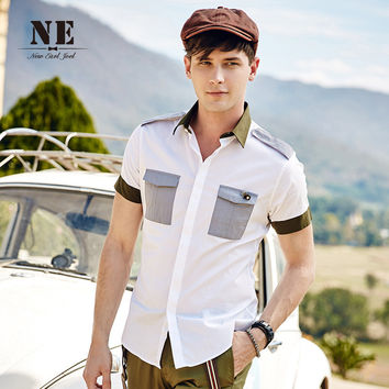 Summer Men's Fashion Short Sleeve Stylish Slim Men Shirt [7951208003]