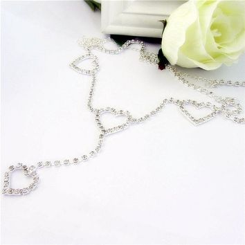Heart to Heart Crystal Belly Chain Belt