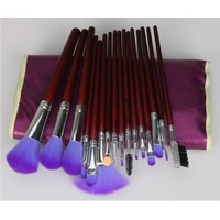 iLoveCos 16pc Professional Cosmetic Makeup Make up Brush Brushes Set Kit With Purple Bag Case