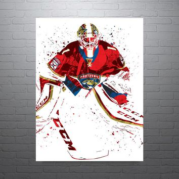 Roberto Loungo Florida Panthers Poster