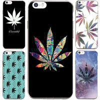 For Weed Attack Pot Leaf Printed Case For IPhone7 7Plus 4 5S SE 6 6S Case Transparent Silicone soft slim Tpu Phone Cover