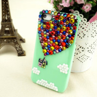 Rhinestone Hot Air Balloon Up iPhone/ Samsung Galaxy Case
