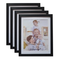 4 Pieces Wooden Picture Frame Set