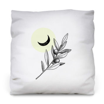 Olive Branch Outdoor Throw Pillow