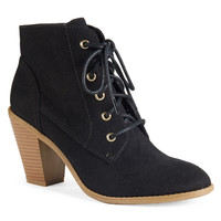 Aeropostale  Womens Heeled Lace Up Booties - Black, 6