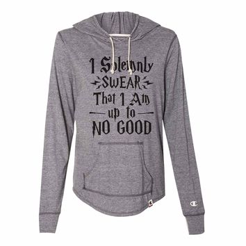 I Solemnly Swear That I Am Up To No Good - Womens Champion Brand Hoodie - Hooded Sweatshirt