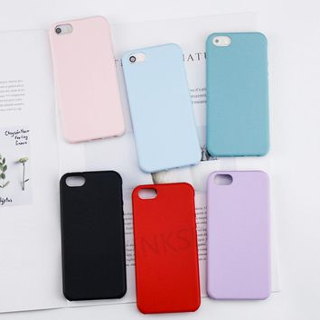 Fashion Candy Color Matte TPU Phone Cover for iPhone 5 Case Luxury Silicone Case for iPhone SE Case for iPhone 5s Cases Degree
