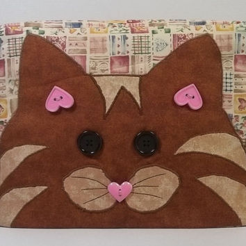 2 slice Toaster Cover with Cat applique