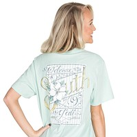 Welcome to the South Pocket Tee in Mint by Lauren James - FINAL SALE