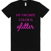 my favorite color is glitter-Female Black T-Shirt