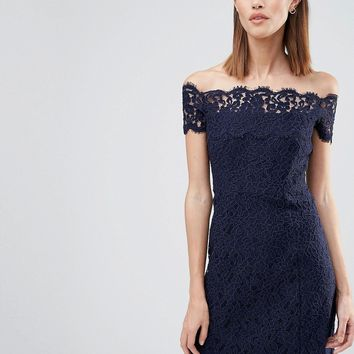 Whistles Bandeau Lace Dress