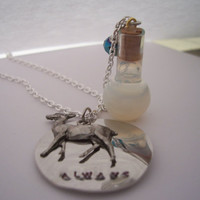 Snapes Memories of Lily    charm necklace  vial of by TheMeltonPot