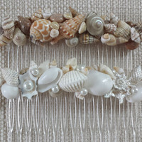 Beach Wedding Hair Comb, Beach Wedding Hair Accessories, Beach Hair Accessories, Beach Hair Comb, Shell Hair Comb, Seashell Hair Comb