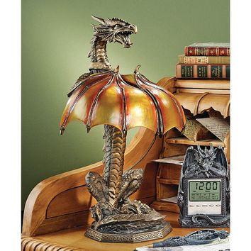 Design Toscano Dragon Strike Illuminated Sculpture - Sculptures & Figurines at Hayneedle