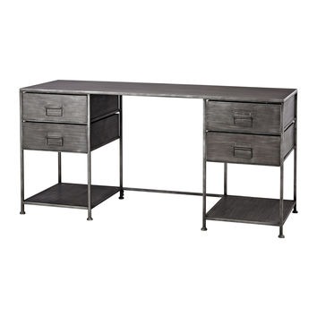 Gunther Industrial Chic Desk Graphite