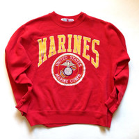 Marines Crewneck Sweatshirt - USMC Gift - Red Sweatshirt - Modern Day M