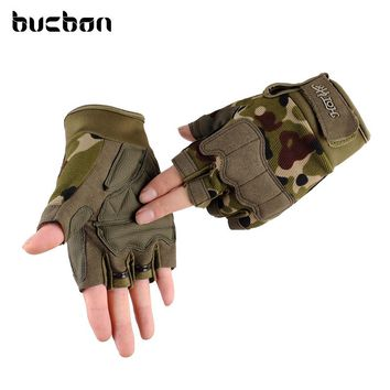 2017 Brand Half Finger Army Military Tactical Gloves Men Women Outdoor Sports Gym Training Soft Fingerless Gloves AGB568
