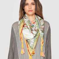 JOHNNY WAS Exotic Flower Silk Scarf