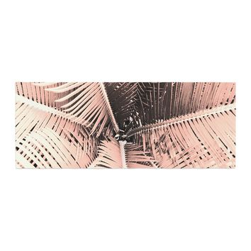 """Suzanne Carter """"Palm-Peach"""" Pink Black Bed Runner - Outlet Item"""
