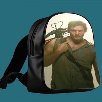 walking dead daryl dixon for Backpack / Custom Bag / School Bag / Children Bag / Custom School Bag *