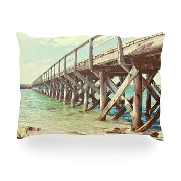 "Debbra Obertanec ""On The Pier"" Beach Oblong Pillow"