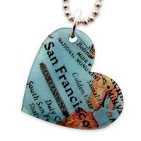 San Francisco Heart Necklace