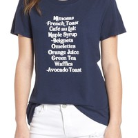 Sub_Urban Riot Brunch List Loose Tee | Nordstrom
