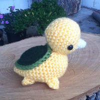 Crocheted Turtleduck amigurumi
