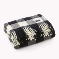 Buffalo Check Throw - White/Black