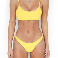 Buy Our Here Comes The Sun Bikini in Yellow Online Today! - Tiger Mist