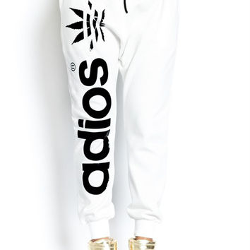 ADIOS Mary Jane Sweatpants in White